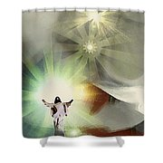 Jesus Abstract Shower Curtain