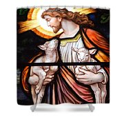 Jesus And Lambs Shower Curtain