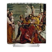 Jesus And The Centurion Shower Curtain