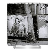 Jesus And The Gangster Shower Curtain