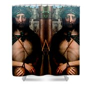 Jesus At The Met Shower Curtain