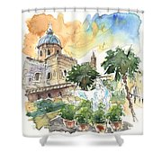 Jesus By Palermo Cathedral Shower Curtain