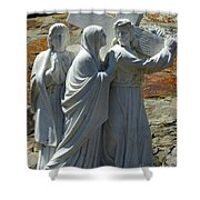 Jesus Carrying Cross Shower Curtain