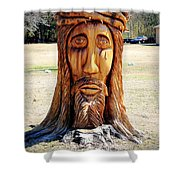 Jesus Carving Shower Curtain