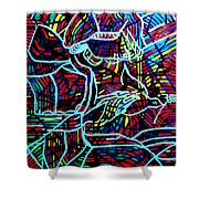 Jesus Christ - King Of Peace Shower Curtain by Gloria Ssali