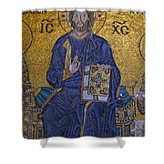 Jesus Christ Mosaic Shower Curtain