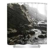 Jesus Christ- Walking Among Angel Mist Shower Curtain