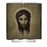 Jesus Christus Portrait By Martie Circa 1876 Shower Curtain