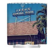 Jesus Coming Soon Church Maui Hawai Shower Curtain