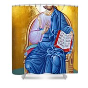 Jesus Holy Trinity Shower Curtain