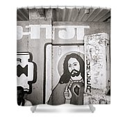 Jesus In Mumbai Shower Curtain
