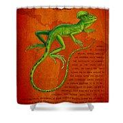 Jesus Lizard Shower Curtain