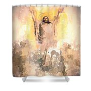 Jesus Loves You 2 Shower Curtain