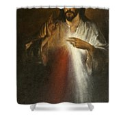 Jesus Of Divine Mercy Shower Curtain