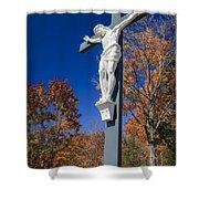Jesus On The Cross Shower Curtain