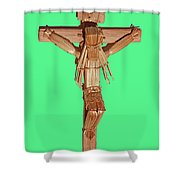 Jesus On The Cross In Mexico 1925 Shower Curtain