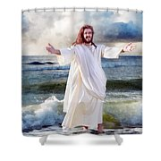 Jesus On The Sea Shower Curtain