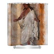 Jesus Photo Art Shower Curtain