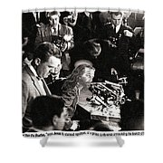 Jesus Press Conference 1966 Shower Curtain