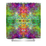 Jesus Quote On The Soul Shower Curtain