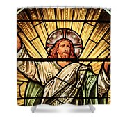 Jesus - The Light Of The Wold Shower Curtain