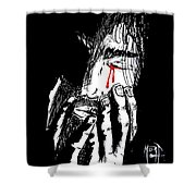 Jesus Wept Red Tears Shower Curtain