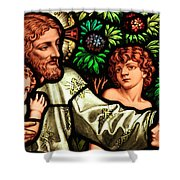 Jesus With Children Shower Curtain