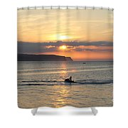 Jet Bike Sunset Shower Curtain