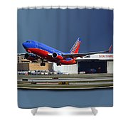 Jet Chicago Airplanes 12 Out Of Bounds Shower Curtain