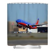 Jet Chicago Airplanes 17 Shower Curtain