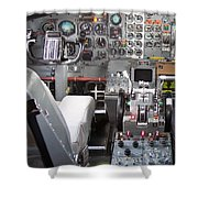 Jet Cockpit Shower Curtain