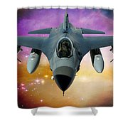 Jet Fighter Aircraft F-16 Falcon Aircraft  Shower Curtain