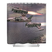 Jet Flying Low Shower Curtain
