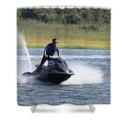 Jet Skier Shower Curtain
