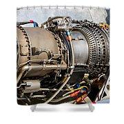 Jet Turbine Engine  Shower Curtain