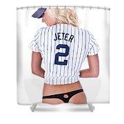 Jeter Fan Shower Curtain