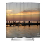 Jetty In The Eveninglight Shower Curtain