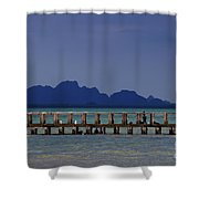 Jetty People Of Bang Saphan Shower Curtain
