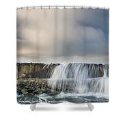 Jetty Spillover Waterfall Shower Curtain