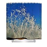 Jetty Splash And Plane 5 10/1 Shower Curtain