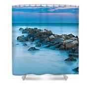 Jetty Sunset Shower Curtain