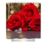 Jewelry And Roses Shower Curtain
