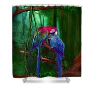 Jewels Of The Jungle Shower Curtain