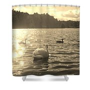 Jewels Of The Lake Shower Curtain