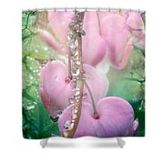 Jewels On Hearts Shower Curtain