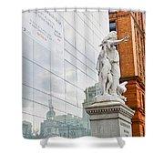 Jewish Memorial Reflection Shower Curtain