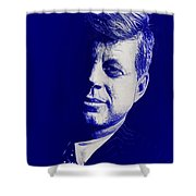 Jfk - Blue Shower Curtain