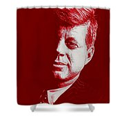 Jfk - Red Shower Curtain