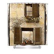Orvieto Window Polaroid Shower Curtain