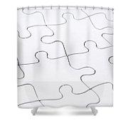 Jigsaw Puzzle Blank Shower Curtain